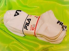 Buy Fila Men's AbsorbDry No Show Socks 10 Pr White with Red/Blues/Grays Shoe Sz 8-12
