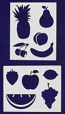 Buy Fruit Stencils -2 pc set-Mylar 14mil - Painting /Crafts/ Templates