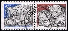 Buy Sweden #2221-2222 Panther Setenant Pair; Used (3Stars) |SVE2222set-07