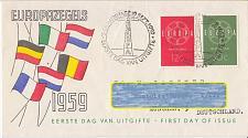 Buy NIEDERLANDE NETHERLANDS [1959] MiNr 0735-36 ( FDC ) CEPT