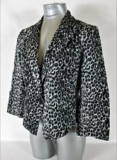 Buy DINA BE womens Large gray black L/S ANIMAL PRINT one button jacket (A4)