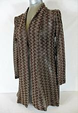 Buy DECORATED ORIGINALS womens Small L/S brown SHEER OPEN FRONT cardigan duster A6)P