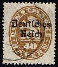 Buy Germany-Bavaria #O57 Official Stamp; Used (1.60) (3Stars) |BAYO57-02XVA