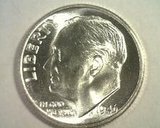 Buy 1946 ROOSEVELT DIME GEM UNCIRCULATED GEM UNC. NICE ORIGINAL COIN FROM BOBS COINS