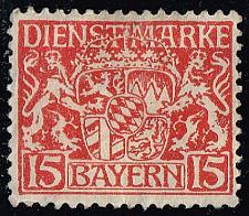 Buy Germany-Bavaria #O12 Coat of Arms; Unused No Gum (0.25) (1Stars) |BAYO12-03XVA