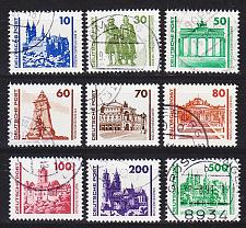 Buy GERMANY DDR [1990] MiNr 3344-52 ( OO/used ) [01] Architektur