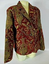 Buy ERIN LONDON womens Large L/S red gold BROCADE fully lined jacket (C3)