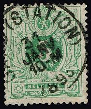 Buy Belgium #51 Numeral; Used (2Stars) |BEL0051-05XRS