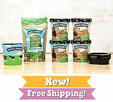 Buy Ben & Jerry's Vegan Ice Cream Gift Pack Fast Free shipping Package Tight