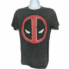 Buy Marvel Deadpool Face Superhero Comics T-Shirt Medium Black Red Short Sleeve