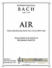 Buy Bach - Air from Orchestral Suite No. 3 in D for String Quartet
