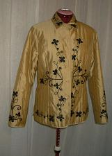 Buy NEW Asian Embroidered SILK Quilted Jacket Gold Black Blazer size 12 Bust 38""