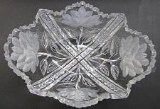 Buy Signed Libbey American Brilliant Period hand Cut Glass oblong shape bowl ABP
