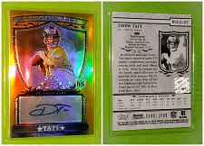 Buy NFL Drew Tate St Louis Rams autographed 2007 Bowman Sterling Gold RC /1000 Mnt