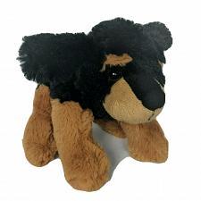 "Buy Calplush Black Brown Puppy Dog Plush Stuffed Animal 2009 8"""