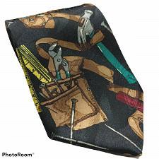 Buy Home Improvement Hammer Nails Pliers Tape Measure Tool Belt Novelty Tie