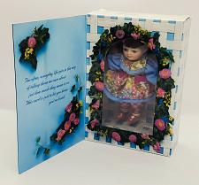 """Buy Marie Osmond Porcelain Greeting Card Doll 5"""" Mothers Day """"Just for You"""" 1996 NIB"""