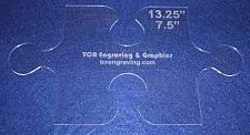 "Buy Large Puzzle Template - Clear 1/8"" - Applique"