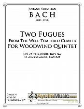 Buy Bach - Two Fugues for Woodwind Quintet