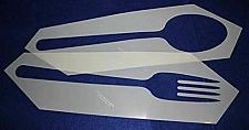 Buy Fork and Spoon Stencil 2 Piece Set -14 Mil Mylar Quilting/ Sewing/ Painting/sten