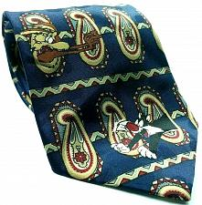 Buy Looney Tunes Mania Bugs Taz Sylvester Daffy Elmer Paisley Striped Novelty Tie