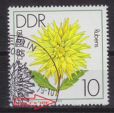 Buy GERMANY DDR [1979] MiNr 2435 I ( O/used ) Blumen Plattenfehler