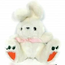 Buy Carlmax Co Easter Bunny White Rabbit Plush Stuffed Animal Carrot Feet 9""