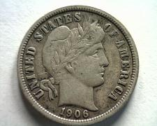 Buy 1906 BARBER DIME EXTRA FINE XF EXTREMELY FINE EF NICE ORIGINAL COIN BOBS COINS