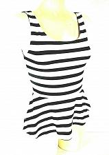 Buy Express womens Small white black SKATER zip back stretch tank top (X)PMTD