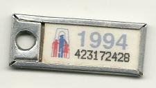 Buy War Amps Key Tag Fob 1994 License Plate Ontario 423172428 Vintage