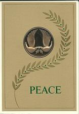 Buy Christmas Coin Card Vintage Franklin Mint Gold Dove Sealed 1971 Peace
