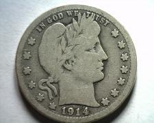 Buy 1914-D BARBER QUARTER DOLLAR VERY GOOD VG NICE ORIGINAL COIN BOBS COIN FAST SHIP