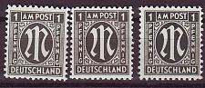 Buy GERMANY Alliiert AmBri [1945] MiNr 0016 A,B,C ( **/mnh )