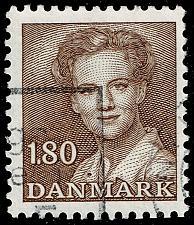 Buy Denmark #702 Queen Margrethe II; Used (3Stars) |DEN0702-03XBC
