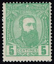 Buy Belgian Congo #6 King Leopold II; Unused (2Stars) |BCO006-01XRS