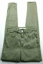 Buy Joes Jeans Womens The Charlie High Rise Skinny Ankle Jeans 24 Green Wash Raw Hem