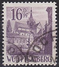 Buy GERMANY Alliiert Franz. Zone [Württemberg] MiNr 0020 y II ( O/used )