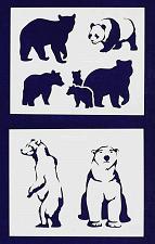 Buy Bear Stencils -2 pc set-Mylar 14mil - Painting /Crafts/ Templates