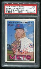 Buy 2016 TOPPS HERITAGE REAL ONE RED AUTO NOAH SYNDERGAARD PSA 10 GEM MINT (0255)