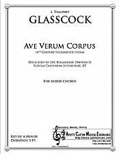 Buy Glasscock - Ave Verum Corpus