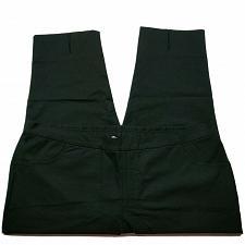 Buy Isaac Mizrahi Live! 24/7 Stretch Crop Pants 26W Black with Back Slit Hem