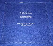 "Buy Square Template 12.5"" with Seam Allowance - Clear 1/8"" 60 Degree"