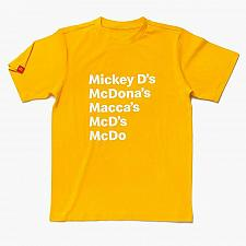 Buy New McDonald Mickey D's Nickname Happy Meal T-Shirt Free Shipping Sm M L 2XL 3XL