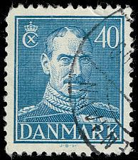 Buy Denmark #286 King Christian X; Used (3Stars) |DEN0286-04XRS