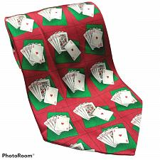Buy Tango Playing Cards Print Gambling Casino Green Red Novelty Silk Necktie