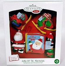 Buy Hallmark Keepsake Kids Jolly Ol' St Nicholas Ornament Story Book Set Brand New