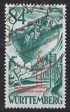 Buy GERMANY Alliiert Franz. Zone [Württemberg] MiNr 0012 yv II ( O/used )