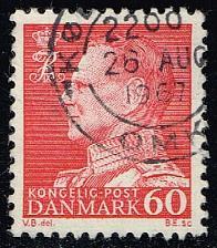 Buy Denmark #439 King Frederik IX (non-fluor); Used (0.25) (3Stars) |DEN0439ord-09