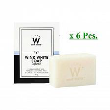 Buy 6xGLUTA SOAP WINK WHITE FACIAL BODY WHITENING BRIGHTENING SOAP 80G.