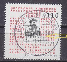 Buy GERMANY BUND [2000] MiNr 2098 PF I ( O/used ) [01] Plattenfehler